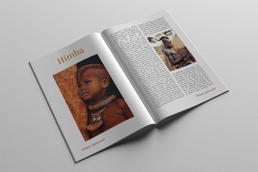 Diseño Editorial Tribus Africanas. 16