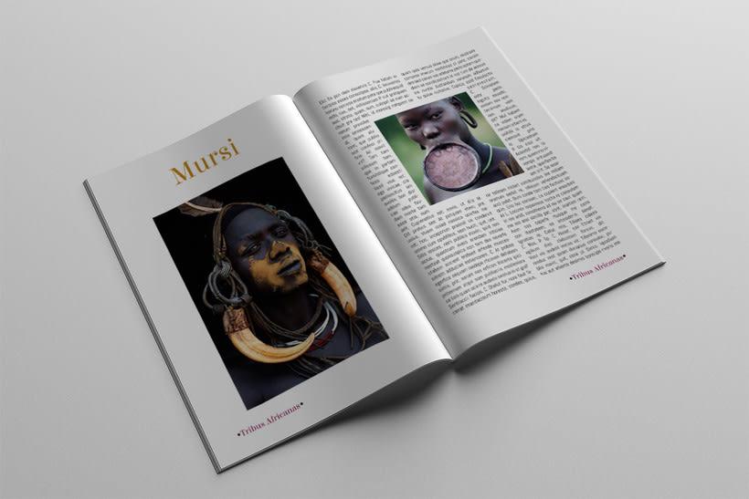 Diseño Editorial Tribus Africanas. 18
