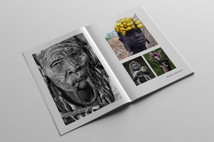 Diseño Editorial Tribus Africanas. 19