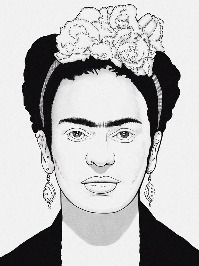 """Ilustración """"Frida khalo Bowie"""" 2"""