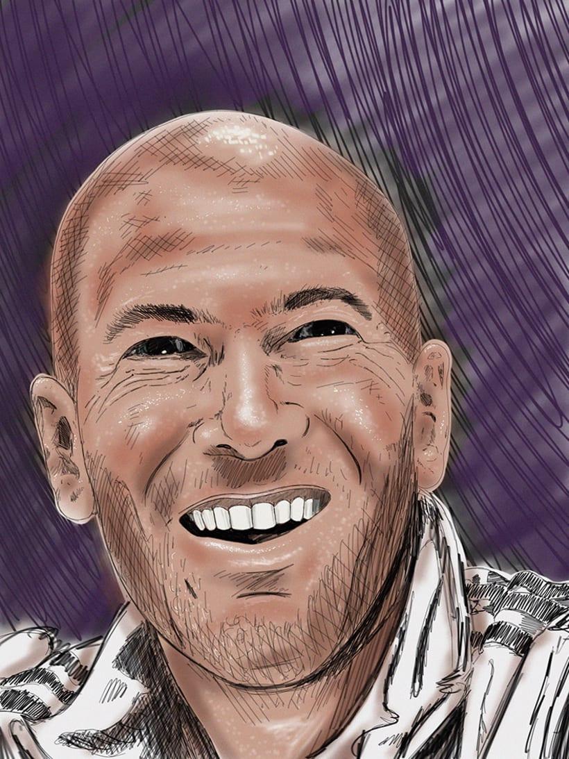 """Ilustración """"Zidane"""" 1"""