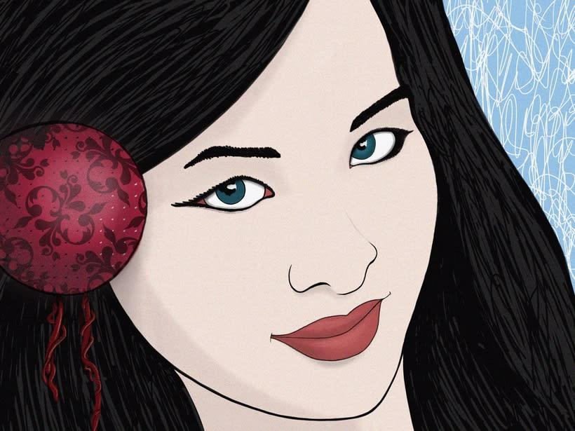 "Ilustración ""Mujer china"" 1"