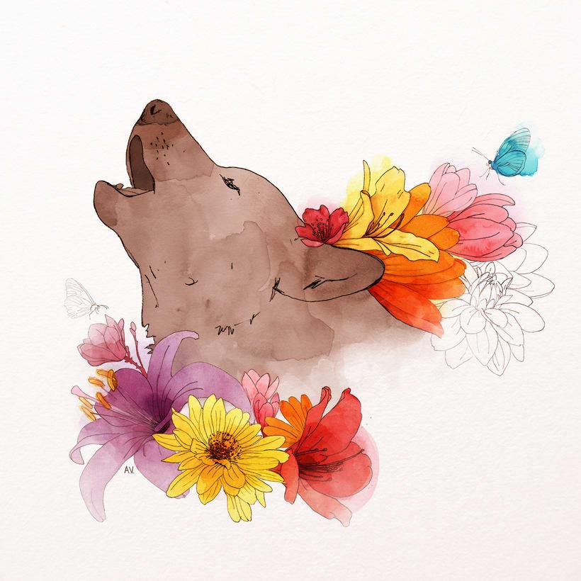 Animales florales 0