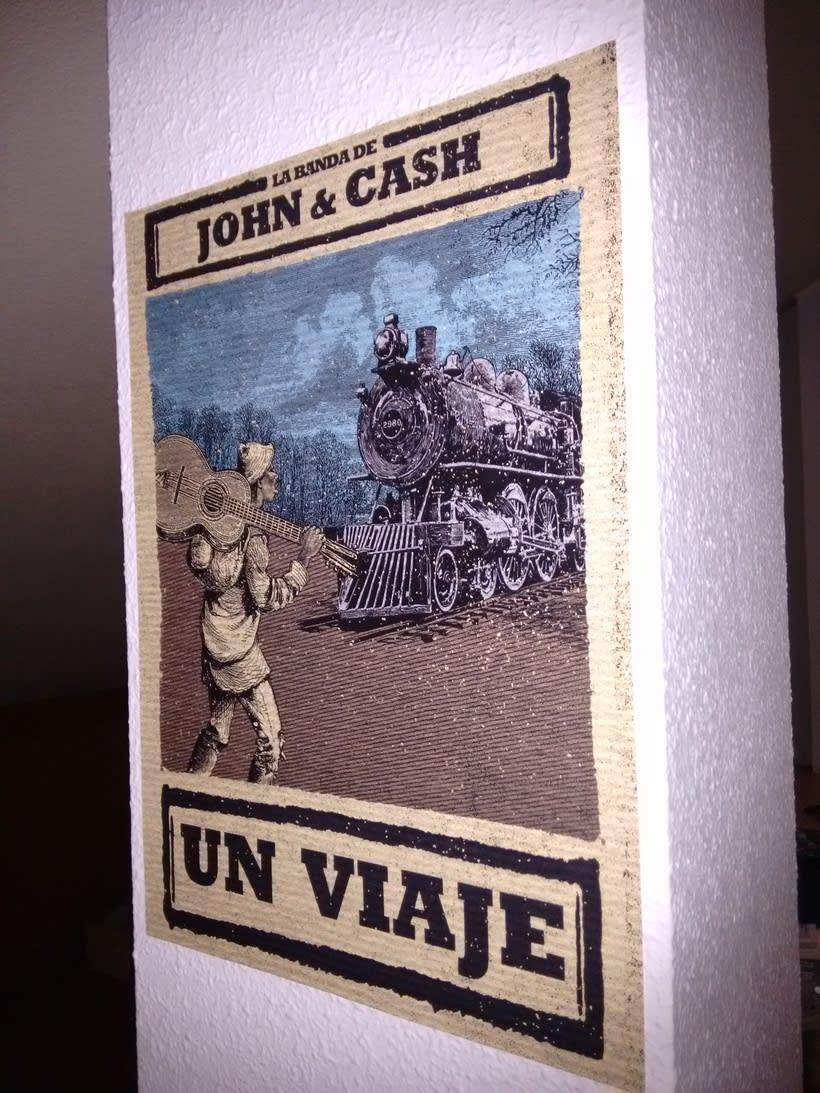 """Cartel para el single """"Un Viaje"""" de La Banda de John & Cash 0"""