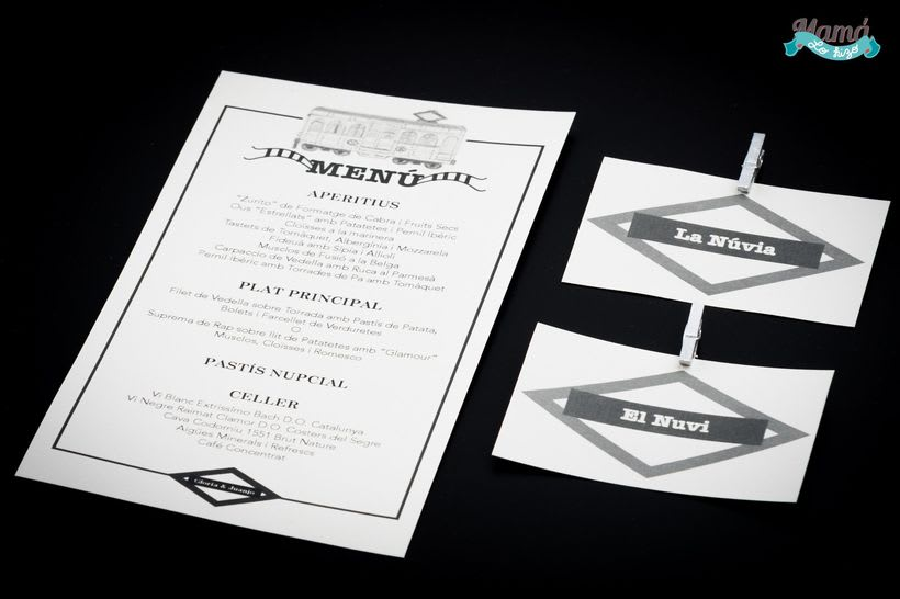 Diseño invitaciones y detalles boda G&J 3