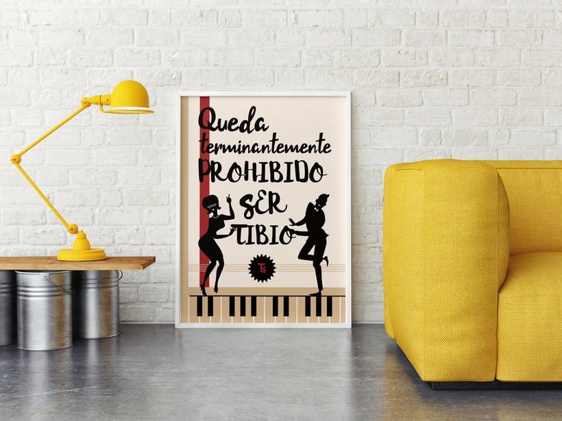Poster Prohibido Ser Tibio  0