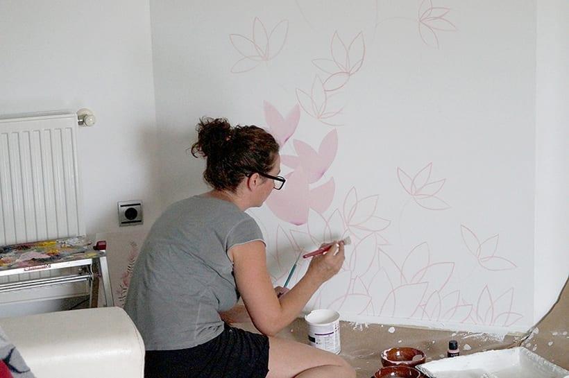 Mural motivos florales 9