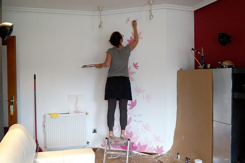 Mural motivos florales 10
