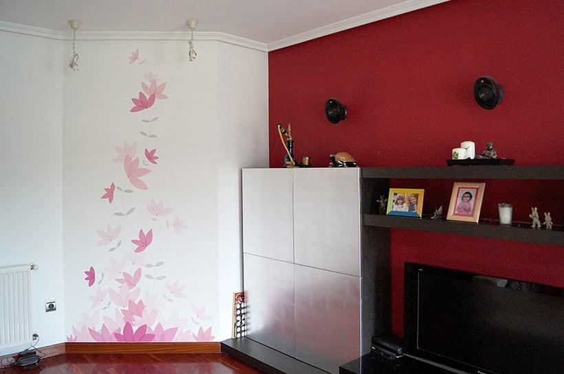 Mural motivos florales 0