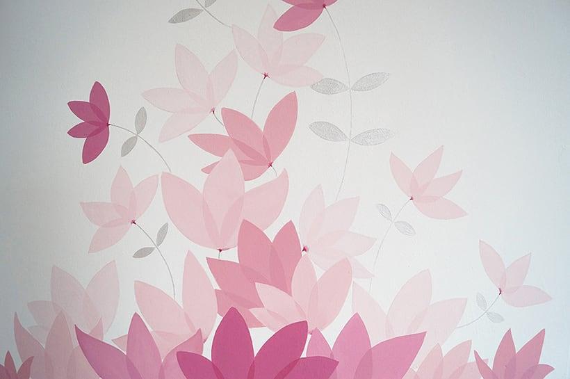 Mural motivos florales 2