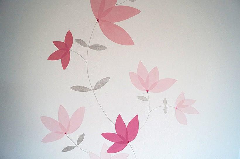 Mural motivos florales 3