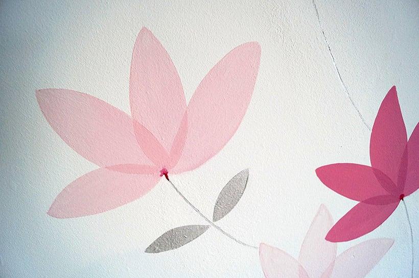 Mural motivos florales 5