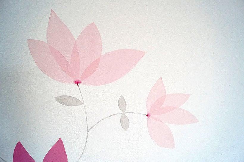 Mural motivos florales 6
