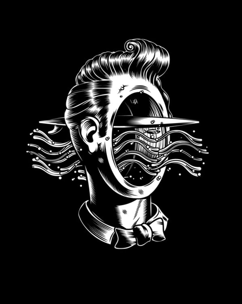 La psicodelia monocromática de Sergi Delgado 11