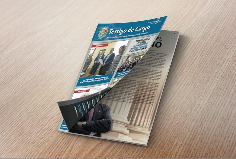 Diseño editorial. Revista N40 Revista Ilustre Colegio de Abogados ICAGR 1