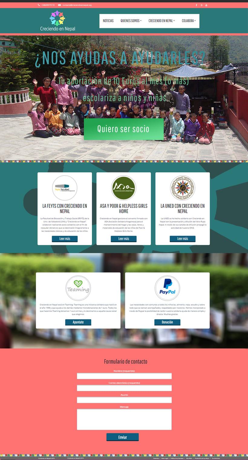 Proyecto Web-Site Creciendo en Nepal  -1