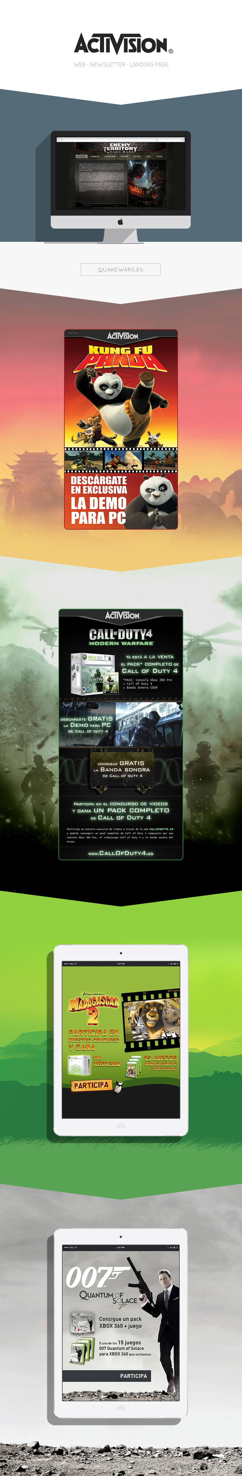 Activision - Web, Newsletters y Landing pages -1