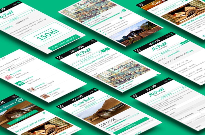Spoonit - Diseño y maquetación de portal de crowdfounding 12