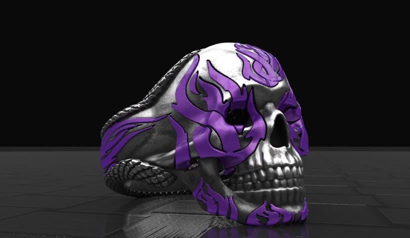 zbrush skull ring -1