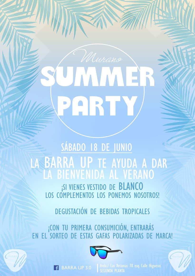 Cartel para fiesta veraniega en Murano Alcorcón -1