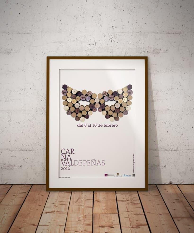 Cartel Carnaval Valdepeñas - 1º Premio consurso 2016 -1