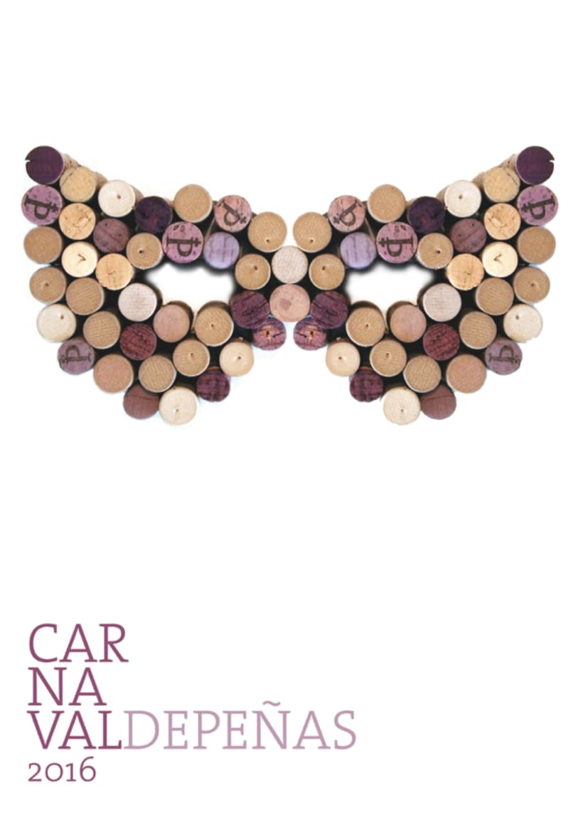 Cartel Carnaval Valdepeñas - 1º Premio consurso 2016 0