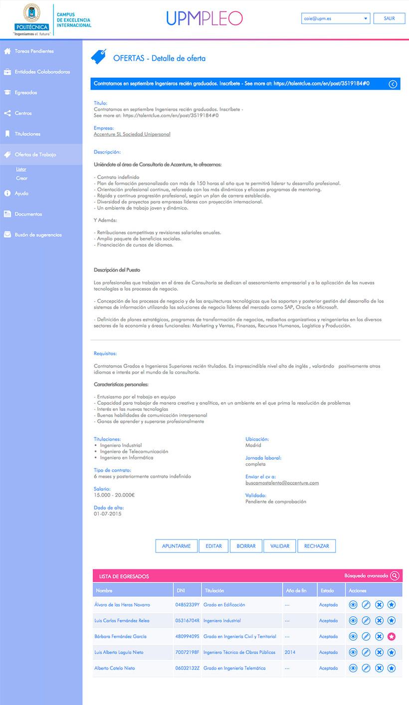 UPMpleo - Portal de Empleo de la UPM 5