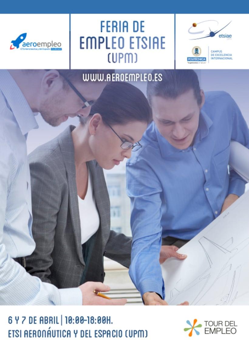 Feria de Empleo ETSIAE (UPM) - Imagen, Material Gráfico y Web 0