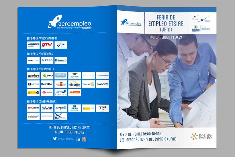 Feria de Empleo ETSIAE (UPM) - Imagen, Material Gráfico y Web 1