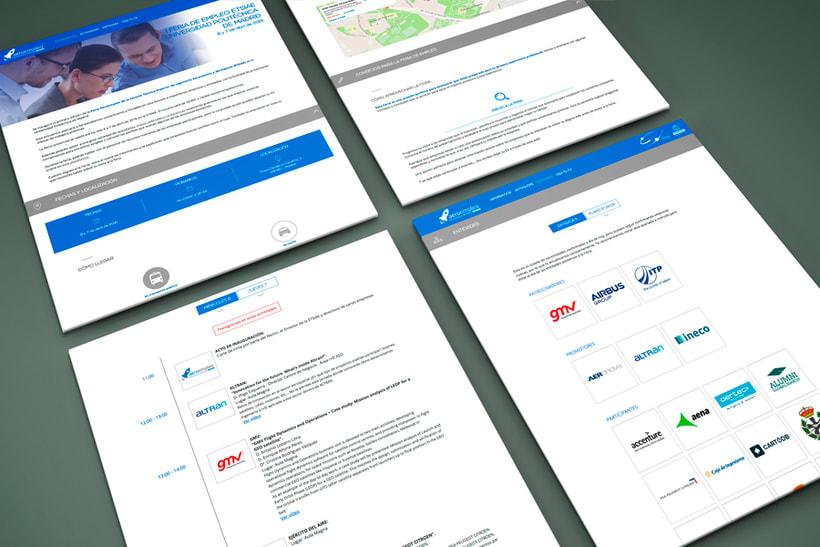 Feria de Empleo ETSIAE (UPM) - Imagen, Material Gráfico y Web 3