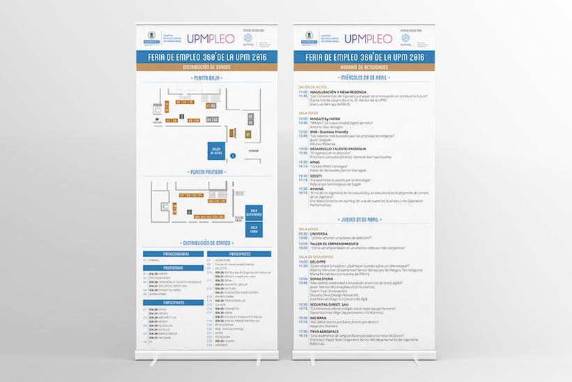 Feria de Empleo de la UPM - Imagen, Material Gráfico y Web 4