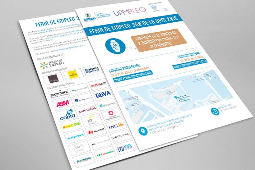Feria de Empleo de la UPM - Imagen, Material Gráfico y Web 5