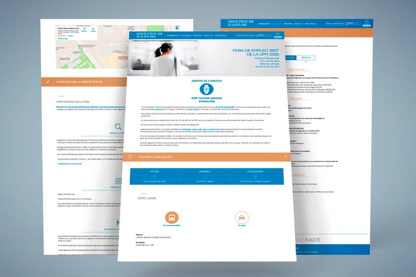 Feria de Empleo de la UPM - Imagen, Material Gráfico y Web 6