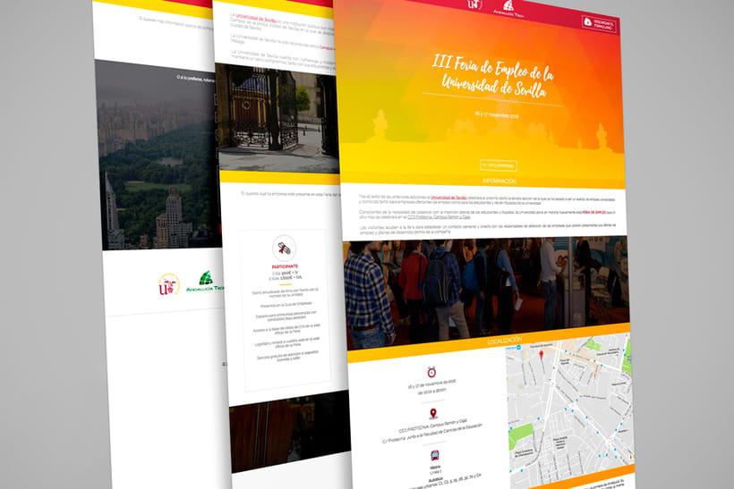 III Feria de Empleo de la Universidad de Sevilla - Imagen y Web 2