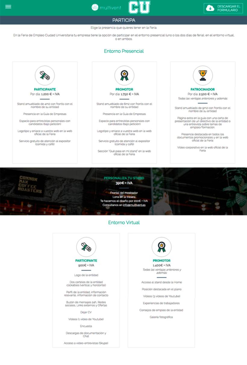 Feria Ciudad Universitaria - Diseño de Logotipo y web 3