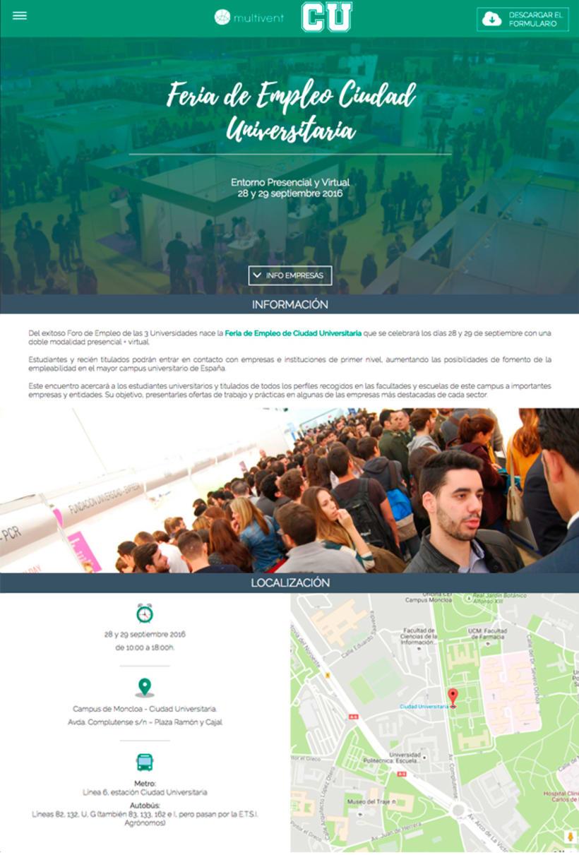 Feria Ciudad Universitaria - Diseño de Logotipo y web 4