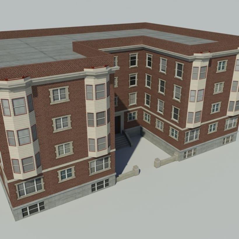 Edificio creado en 3D Max 0