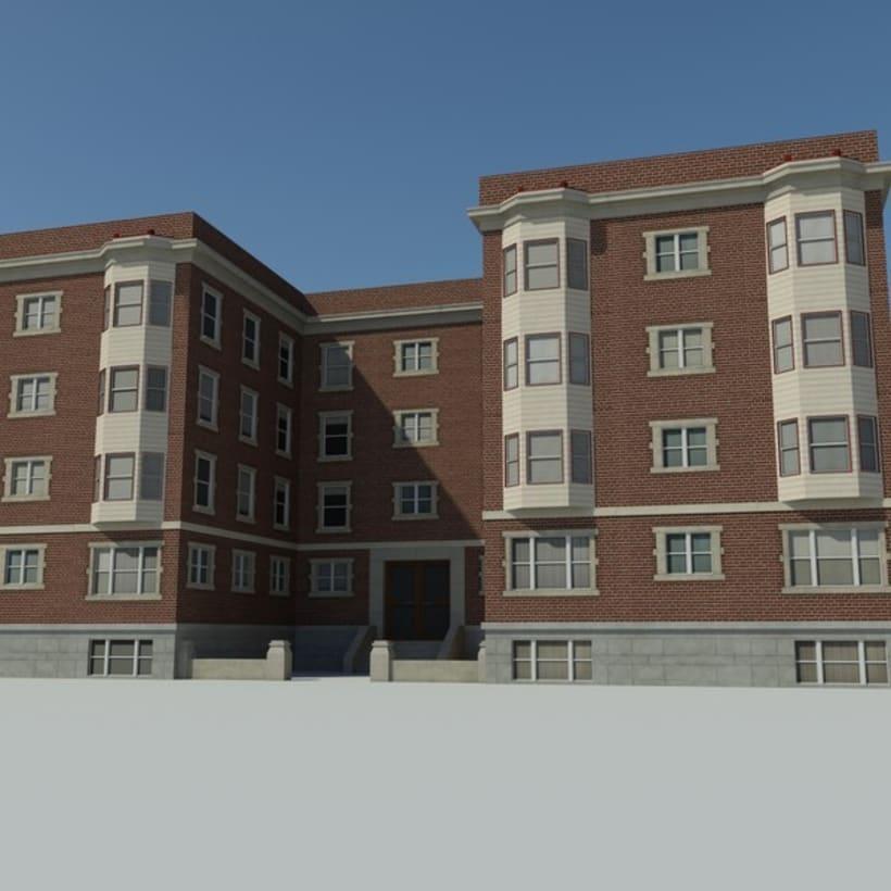 Edificio creado en 3D Max 1