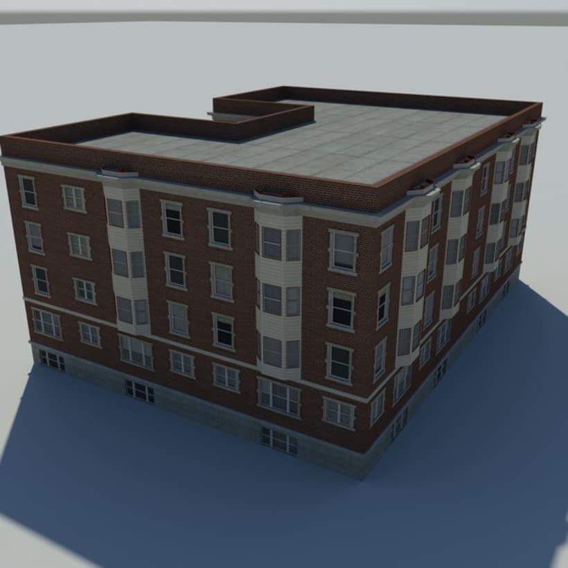 Edificio creado en 3D Max 2