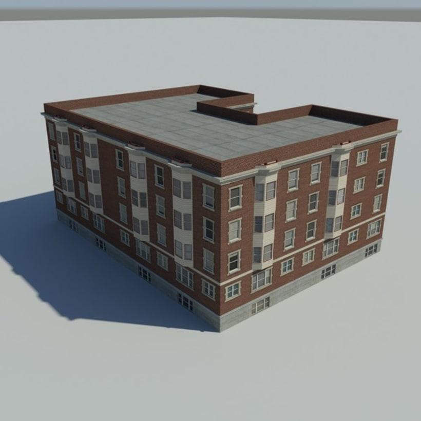 Edificio creado en 3D Max 3