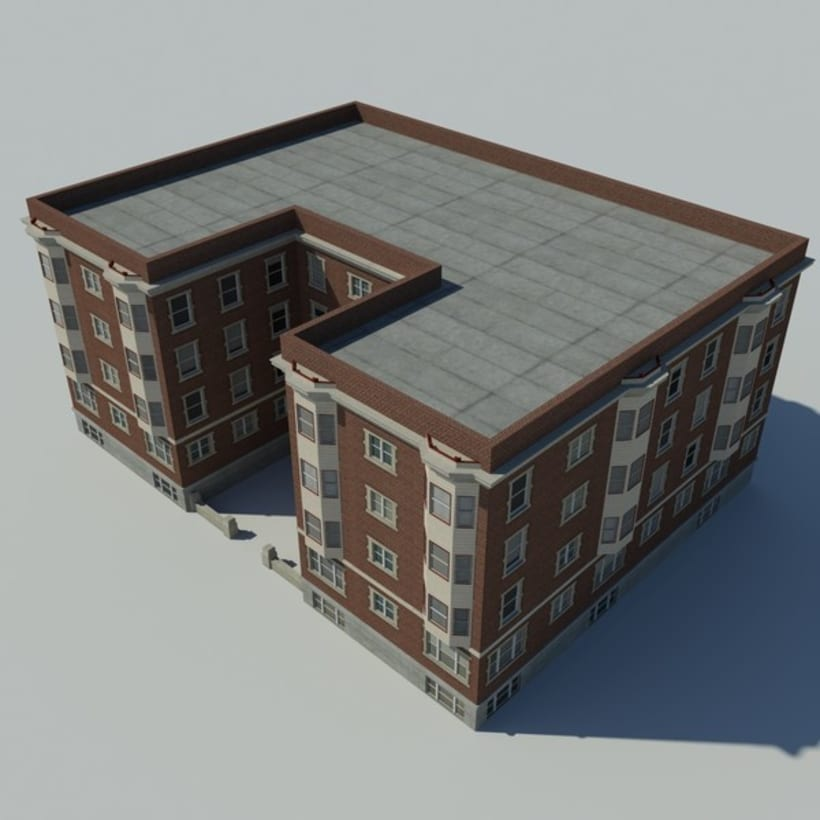 Edificio creado en 3D Max 4