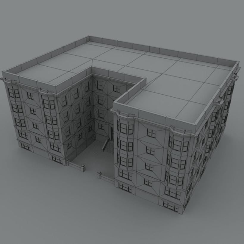 Edificio creado en 3D Max 5