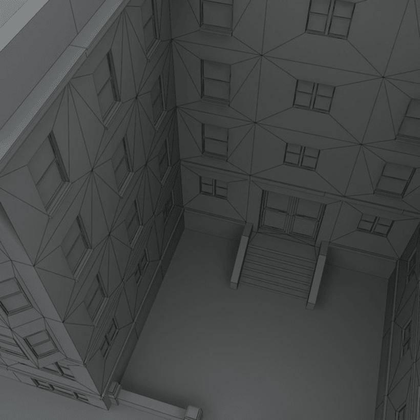 Edificio creado en 3D Max 6