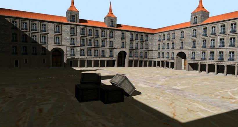 Escena para videojuego en 3D Max -1