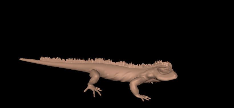 Iguana realizada en Autodesk Mudbox -1