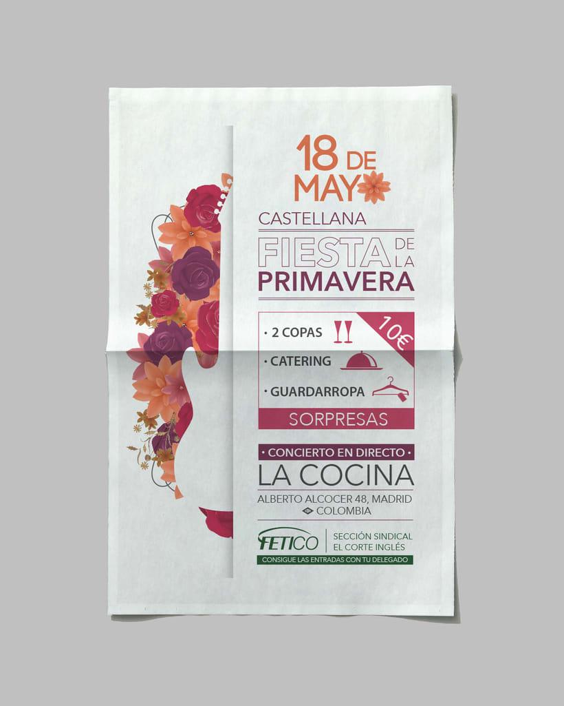 """Diseño gráfico - Cartel """"Fiesta de la primavera"""" -1"""