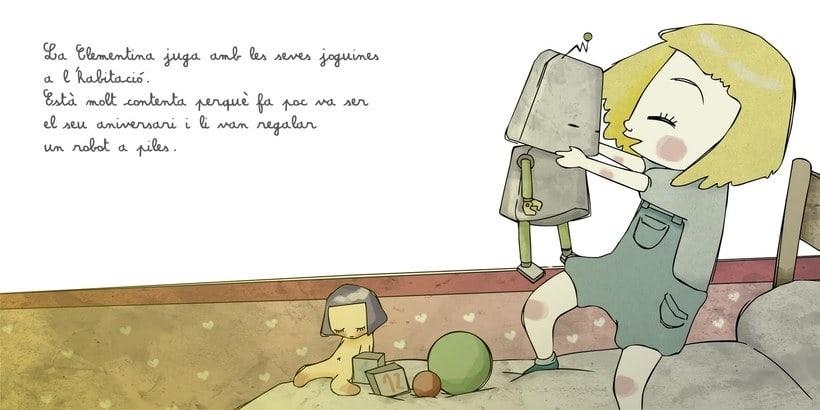 """La petita exploradora . UN ROBOT DINS DE CASA"""" · texto Ⓒ Joan de Déu Prats 0"""
