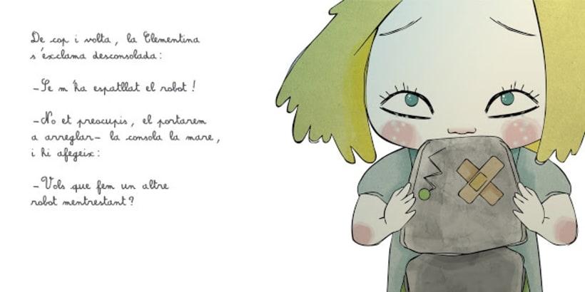 """La petita exploradora . UN ROBOT DINS DE CASA"""" · texto Ⓒ Joan de Déu Prats 1"""