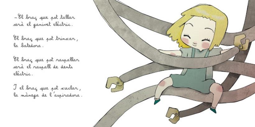 """La petita exploradora . UN ROBOT DINS DE CASA"""" · texto Ⓒ Joan de Déu Prats 3"""