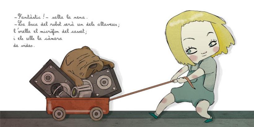 """La petita exploradora . UN ROBOT DINS DE CASA"""" · texto Ⓒ Joan de Déu Prats 4"""